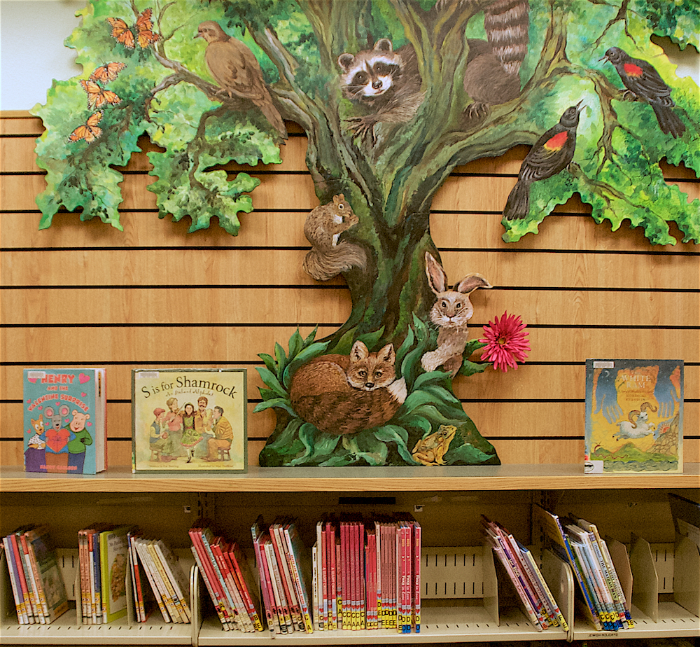 Library Tree Painting